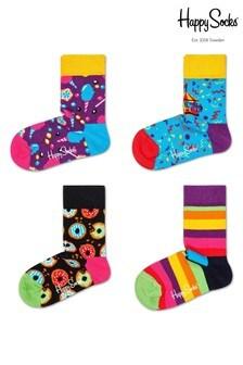 Happy Socks Multi Carousel Four Pack Gift Box