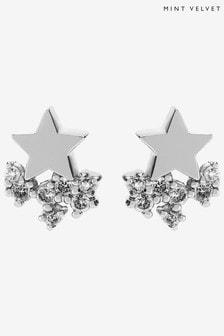 Mint Velvet Silver Plated Clustered Studs