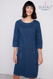 Seasalt Collected Works Dress Mid Indigo Wash