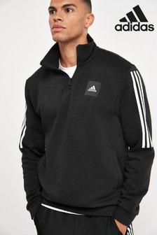 adidas Black Must Have 1/4 Zip Sweat Top