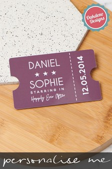 Personalised Couples Wallet Card by Oakdene Designs
