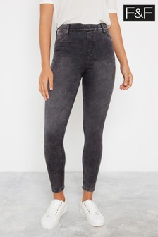 F&F Grey Jegging Acid Jeans