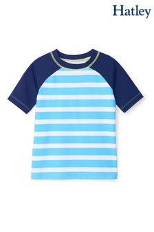 Hatley Blue Stripe Short Sleeve Rashguard