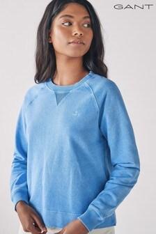 GANT Pacific Blue Sunfaded Crew Neck Sweatshirt