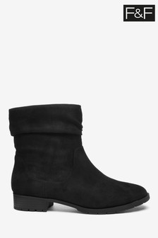 F&F Black Slouch Boots