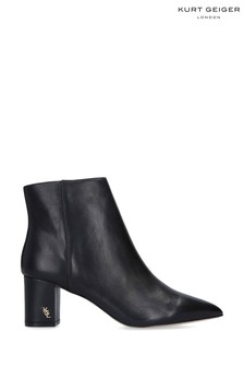 Kurt Geiger London Black Burlington Leather Ankle Boots
