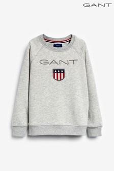 GANT Boys Shield Logo Crew Neck Sweat Top