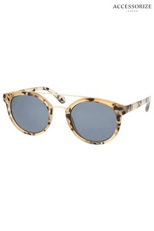Accessorize Black Animal Preppy Sunglasses