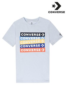 Converse Boys Colourblock Logo T-Shirt