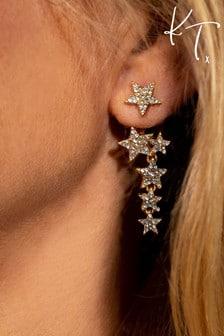Kate Thornton 'Sparkling Stars' Gold Multiway Earrings