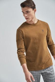 Мягкая футболка с длинными рукавами
