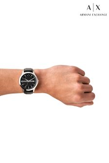 Armarni Exchange Black Leather Watch