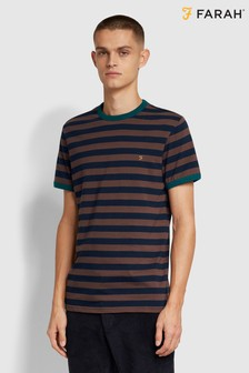 Farah Red Belgrove Stripe T-Shirt