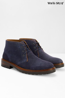 White Stuff Blue Jacob Cleated Casual Boots