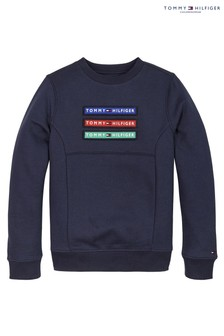 Tommy Hilfiger Blue Velcro Badge Sweatshirt