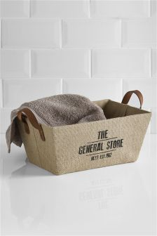 Hessian Tapered Basket