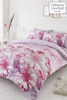 Catherine Lansfield Pink Daisy Dreams Floral Easy Care Duvet Cover and Pillowcase Set