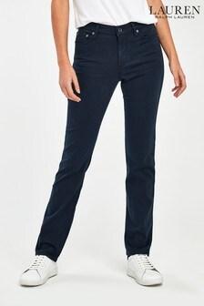 Lauren Ralph Lauren® Navy Straight Fit Trousers