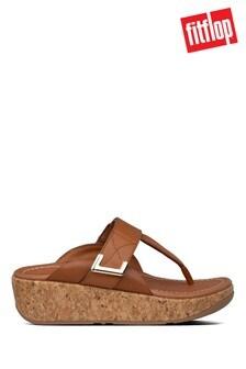 FitFlop™ Tan Remi Adjustable Toe Post Sandals