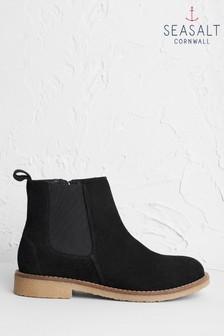 Seasalt Black Winding Lane Boots