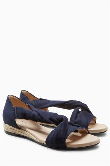 Forever Comfort Low Espadrille Wedge Sandals