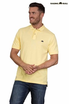 Raging Bull Yellow Signature Poloshirt