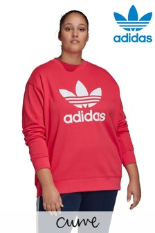 adidas Originals Curve Trefoil Sweat Top