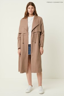 French Connection Brown Carla Lyocell Oversized Coat