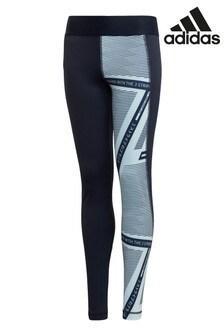 adidas Performance Blue/Navy Logo Leggings