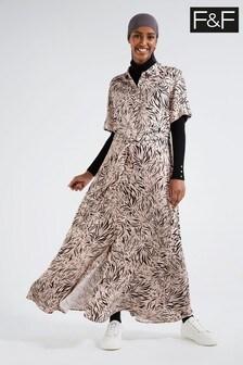 F&F Safari Zebra Shirt Dress