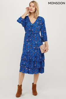 Monsoon Tilly Ecovero Floral Print Dress