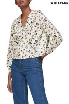 Whistles Shell Print Collar Blouse