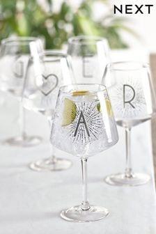 Alphabet Gin Glass