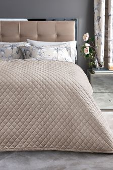 Matt Velvet Quilted Throw