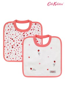 Cath Kidston Mini Lovebugs Square Bibs Two Pack