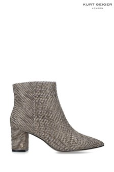 Kurt Geiger London Natural Burlington Fabric Ankle Boots