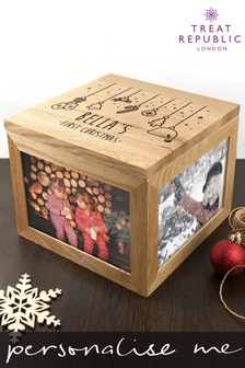 Personalised First Christmas Photo Memory Box by Treat Republic