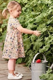 Polarn O. Pyret Pink Organic Cotton Floral Dress