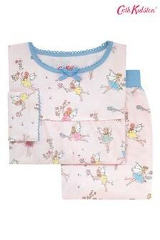 Cath Kidston® Pink Kids Jersey Garden Fairies Pyjamas