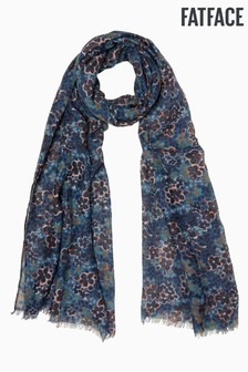 FatFace Blue Floral Scarf