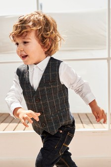 Waistcoat, Shirt And Bow Tie Three Piece Set (3mths-6yrs)