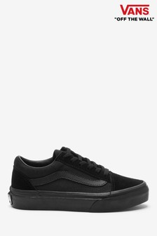 Vans Youth Black/White Old Skool Trainers