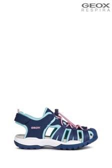 Geox Girl's Borealis Navy Sandals