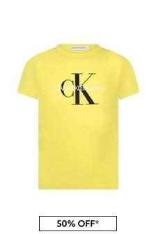 Calvin Klein Jeans Unisex Yellow Cotton T-Shirt