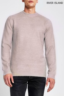 River Island Pink Light Soft Touch Jumper
