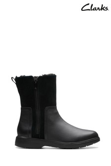 Clarks Black Un Elda Mid Boots