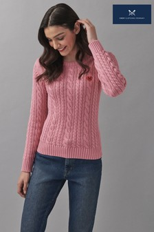 Crew Clothing Company Heart Cable Jumper