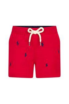 Ralph Lauren Kids Baby Boys Red Swim Shorts