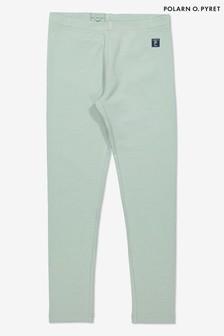 Polarn O. Pyret Green Organic Cotton Leggings