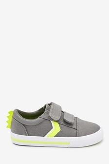 Schuhe mit Dinosauriermotiv und Karabiner-Klettverschluss (Jünger)